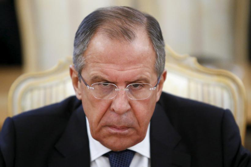 Russia's Foreign Minister Sergei Lavrov during a meeting.