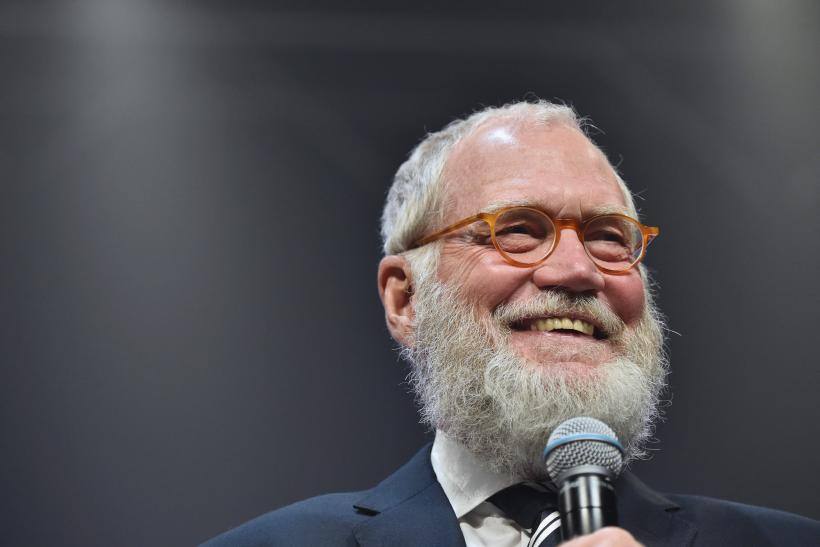 Letterman shaved as audience looked on