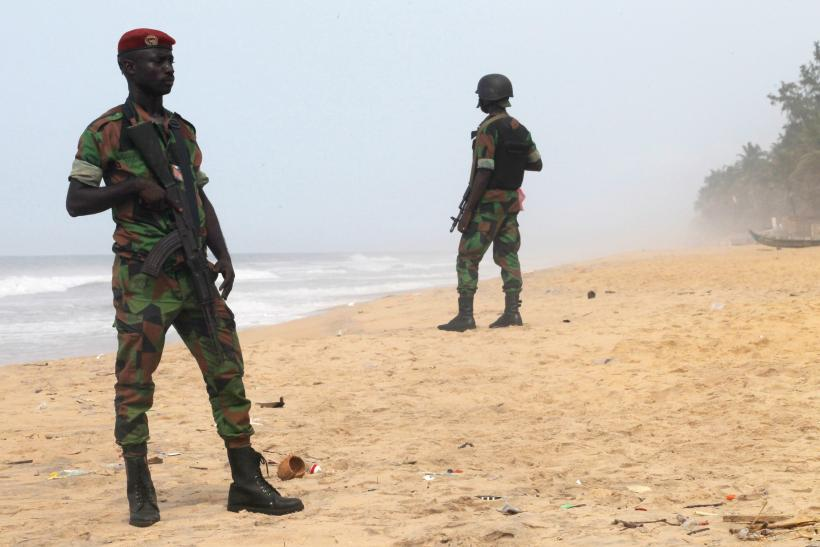 Soldiers in Grand-Bassam, Ivory Coast