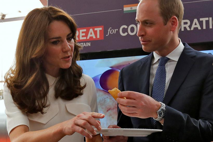 Britain's Prince William and his wife Kate