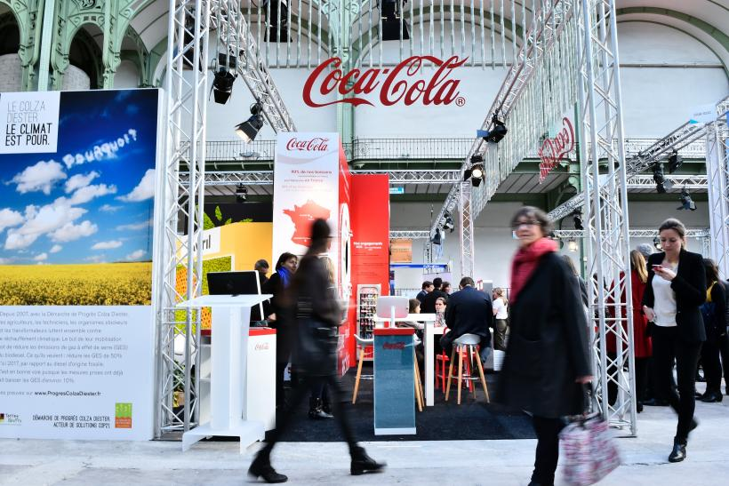 Coca-Cola stand in Paris