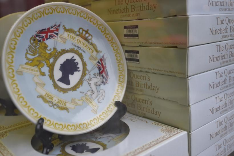 Commemorative crockery for Queen Elizabeth II's 90th birthday