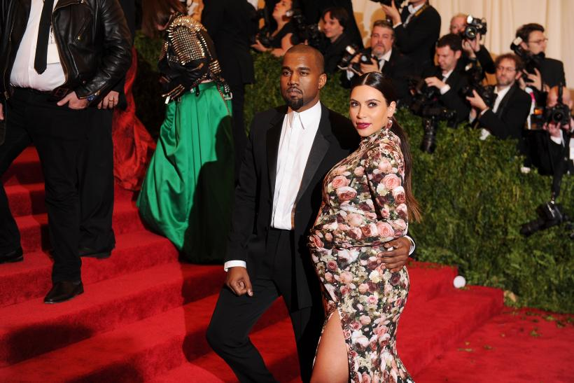 Kanye West and Kim Kardashian at Met Gala 2013