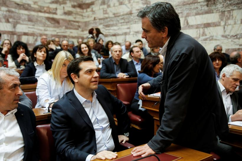 Greece's Alexis Tsipras and Euclid Tsakalotos, Athens, May 6, 2016