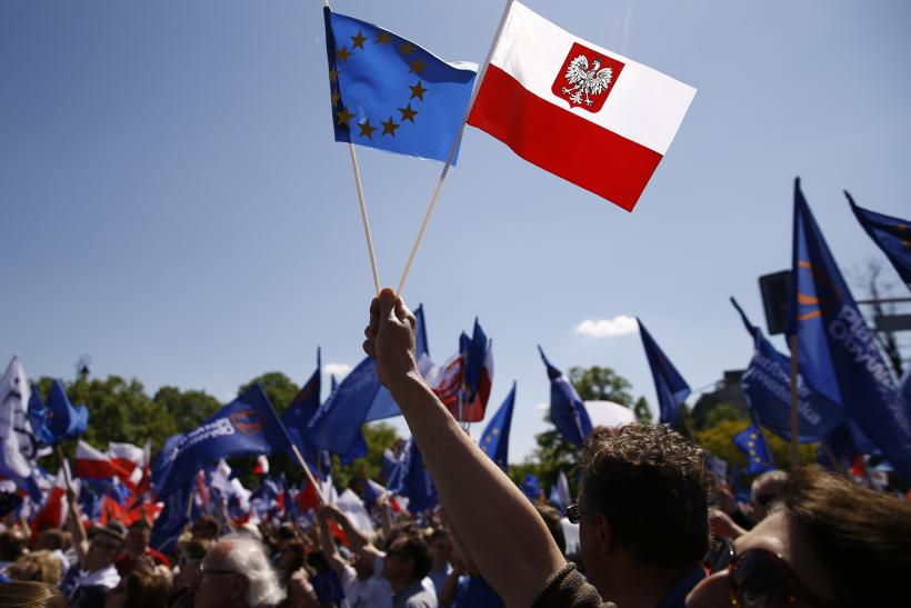 EU, Polish flags