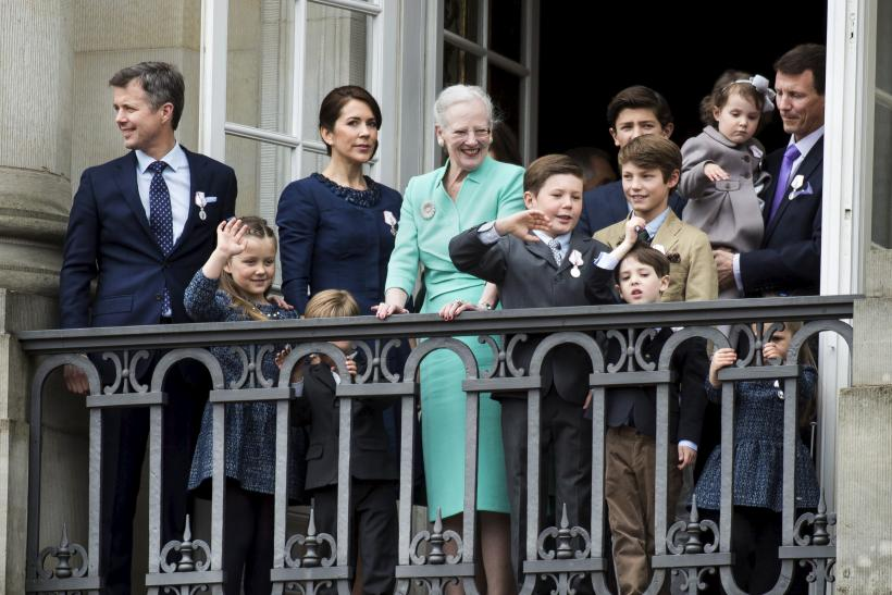Prince Henrik pictured with his family