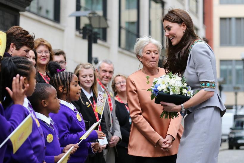 Kate Middleton in a Matthew Williamson design