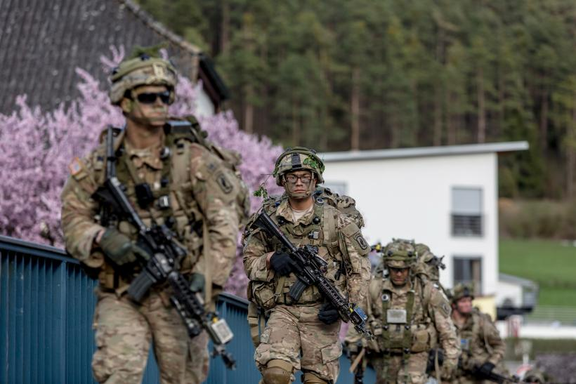 ... military exercises near Grafenwoehr, Germany, April 12, 2016. Photo