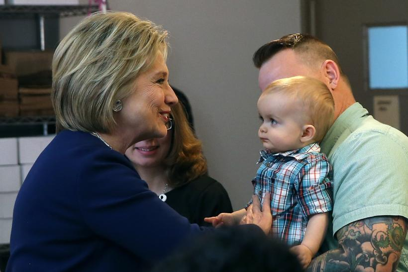 Hillary Clinton with toddler