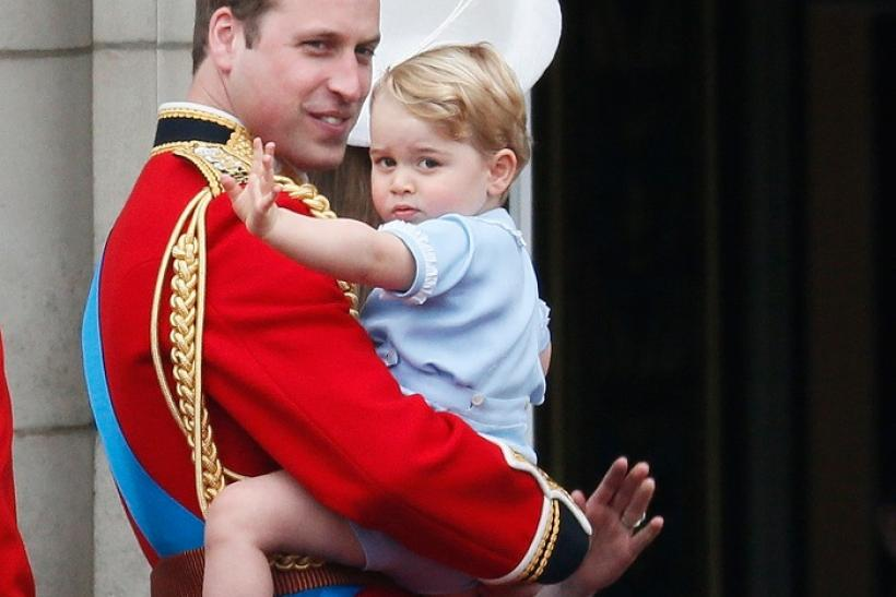 Prince William with son Prince George