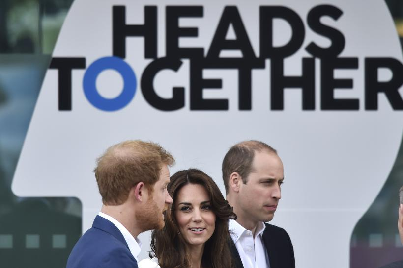 Prince William, The Duke of Cambridge, his wife Catherine, the Duchess of Cambridge and Prince Harry