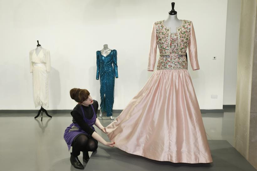 A Catherine Walker Mughal-inspired silk evening gown and bolero worn by Princesss Diana