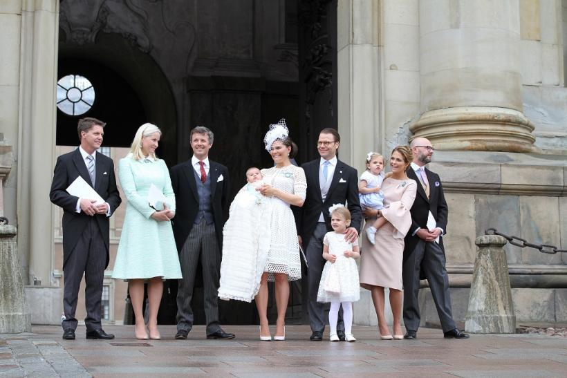 Prince Oscar with his family and godparents