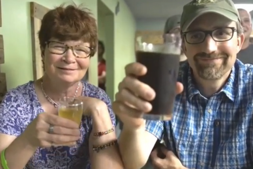 Couple Toasts Beer
