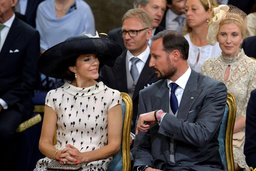 Crown Princess Mary of Denmark with Crown Prince Haakon of Norway