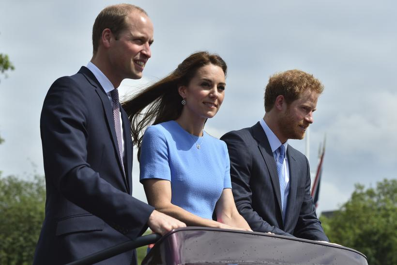 Prince William with Kate Middleton and Prince Harry