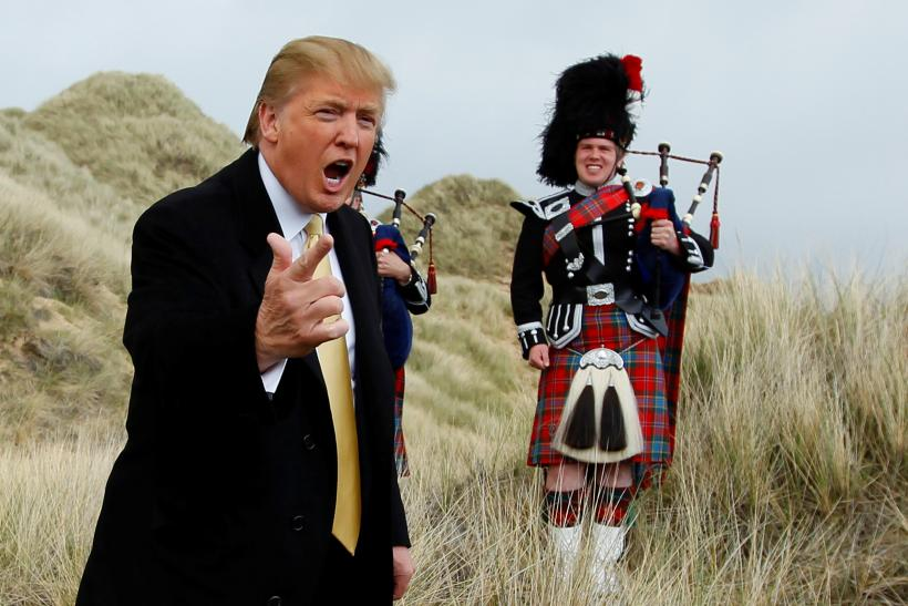 Trump goes to Scotland