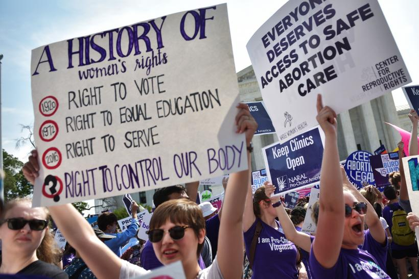 Abortion rights supporters