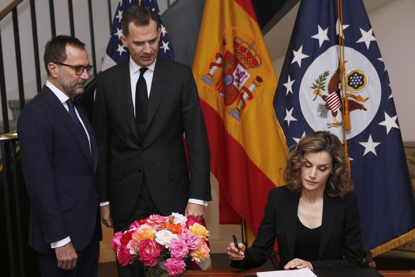 Spain's Queen Letizia and King Felipe