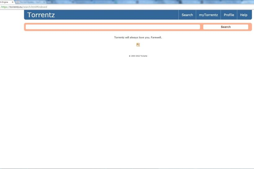 torrentz largest torrent search engine shuts down