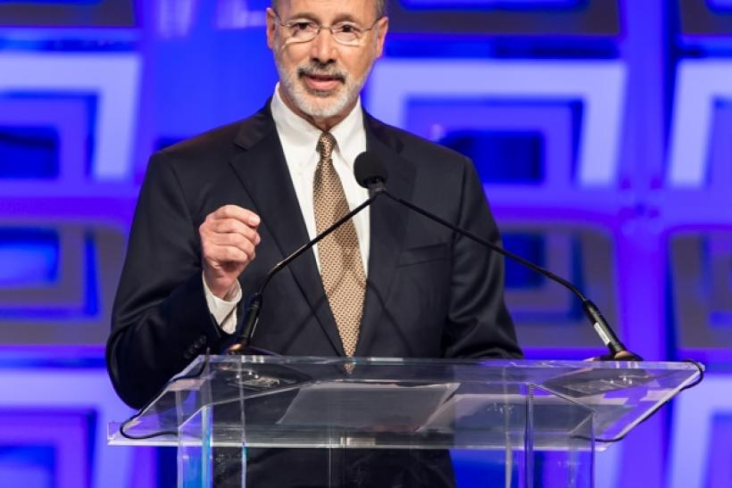 Governor of Pennsylvania Tom Wolf speaks during Pennsylvania Conference For Women 2015 at Pennsylvania Convention Center on November 19, 2015 in Philadelphia, Pennsylvania.