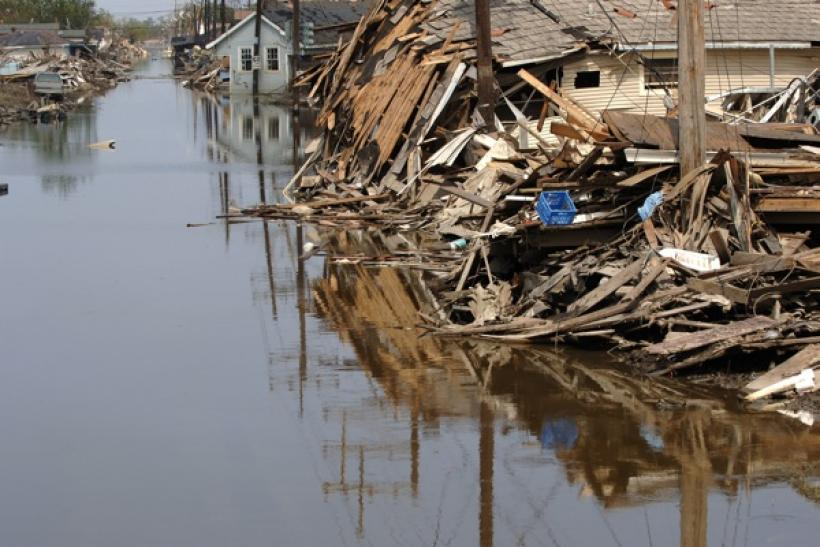 The smelly reminence of the twice flooded ninth ward in New Orleans remains unlivable
