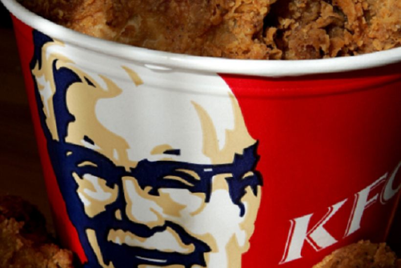 SAN RAFAEL, CA - OCTOBER 30: A bucket of KFC Extra Crispy fried chicken is displayed October 30, 2006 in San Rafael, California.