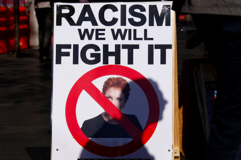 Rally organised to show support for the 'Black Lives Matter' movement, following recent police shootings in the U.S., in central Sydney, Australia, July 16, 2016