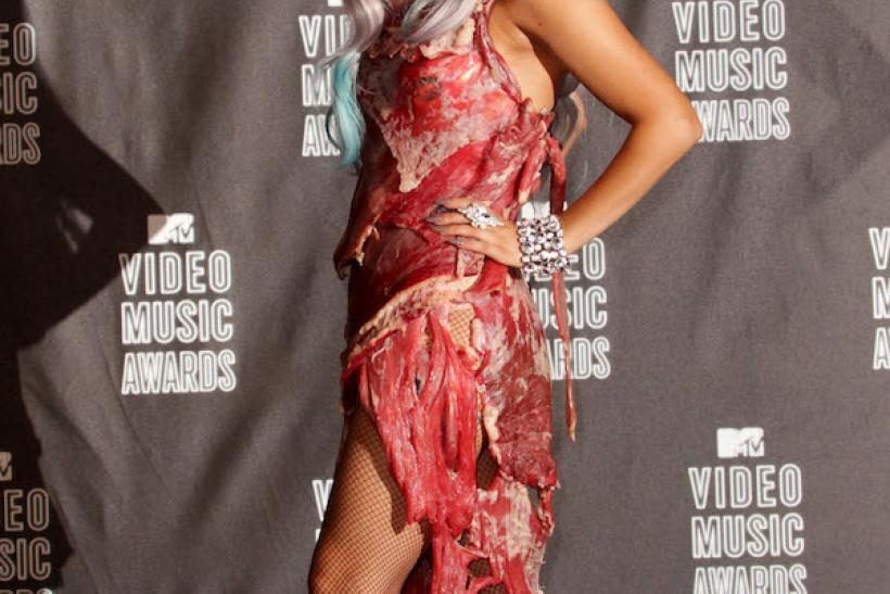"Lady GaGa In The Infamous ""Meat Dress"" 2010 Is The Freakiest We've Seen"