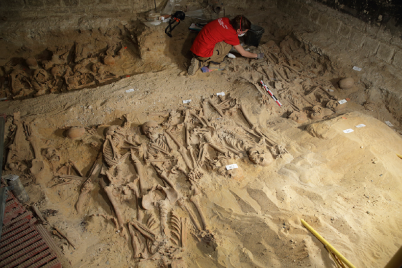 Scientist discover the bacteria responsible for the Great Plague of 1665 in skeletal remains at a London burial site.