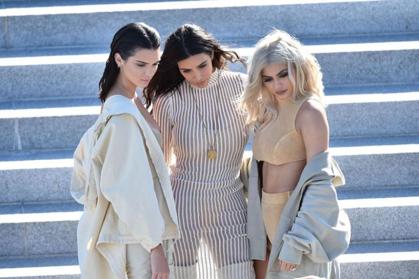 #5: Kendall Jenner, Kim Kardashian and Kylie Jenner At Yeezy Season 4