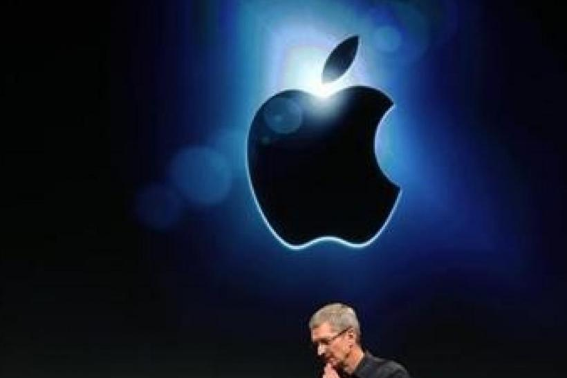 Apple CEO Tim Cook speaks at Apple headquarters in Cupertino, Calif., Oct. 4, 2011.