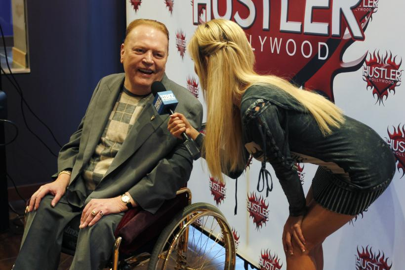 Publisher Larry Flynt President Of Larry Flynt Publications Is Interviewed At Induction Ceremonies For Adult Film Stars And Producers John Stagliano And