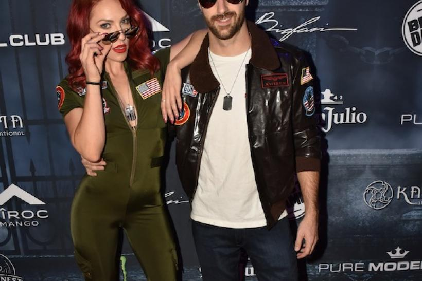 Race car driver James Hinchcliffe and Sharna Burgess