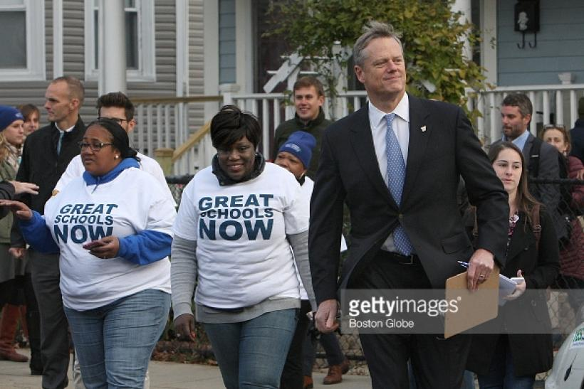 Gov Baker I Wasnt Aware Of Wall Street Funding For Charter