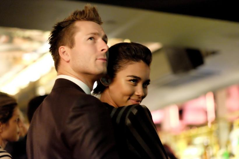Glen Powell and Alexandra Shipp
