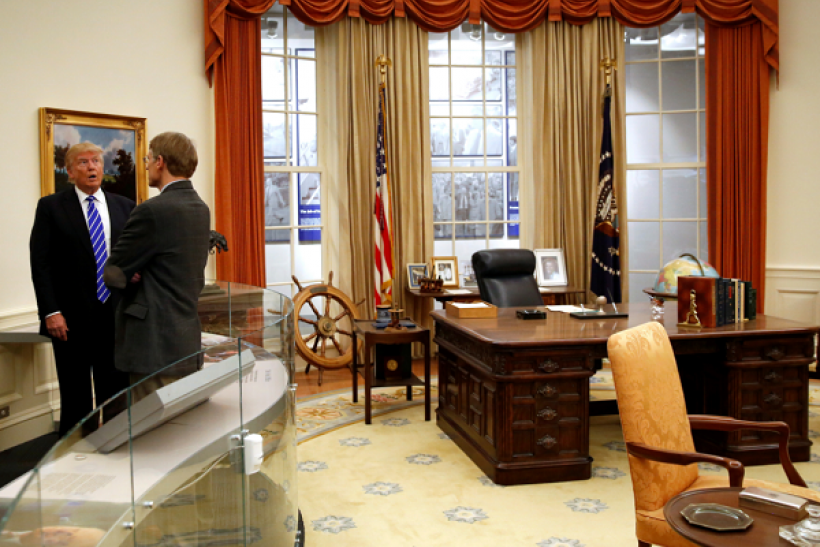 Donald Trump may have to renovate the Oval Office when he moves into the White House.