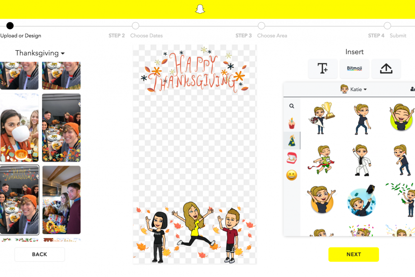 Snapchat Update: How To Add Bitmoji To Customizable Geofilters