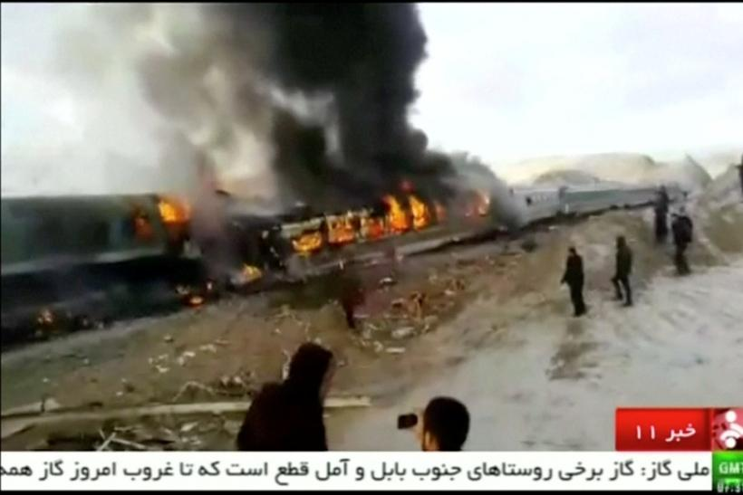 Iran train collision