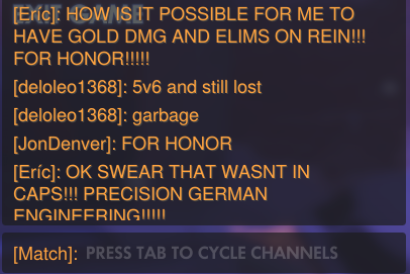 Overwatch April Fools' Day: Reinhardt Chat Filter, FOR HONOR!!!!