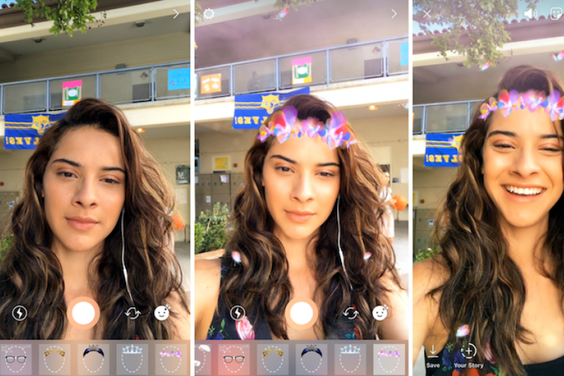 Instagram Update Adds Face Filters To Complete Its Snapchat