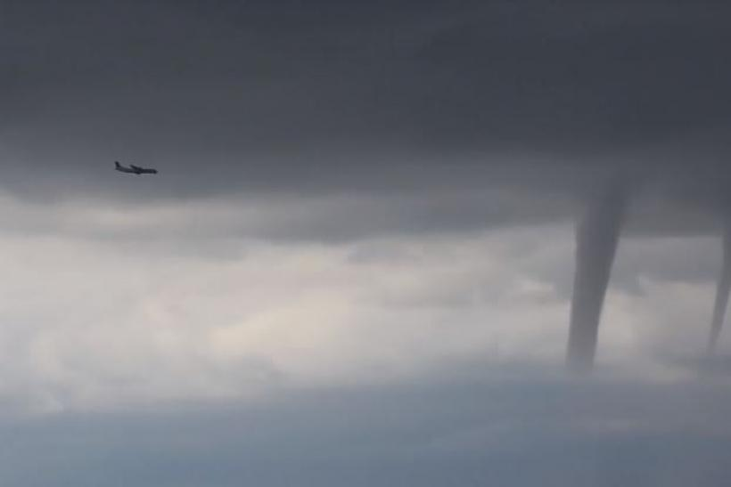 Watch As Plane Flies Past 3 Tornadoes In Terrifying Video Terrifying video shows a passenger plane flying past three tornado formations over Sochi, Russia. Images may be subject to copyright. Find out more