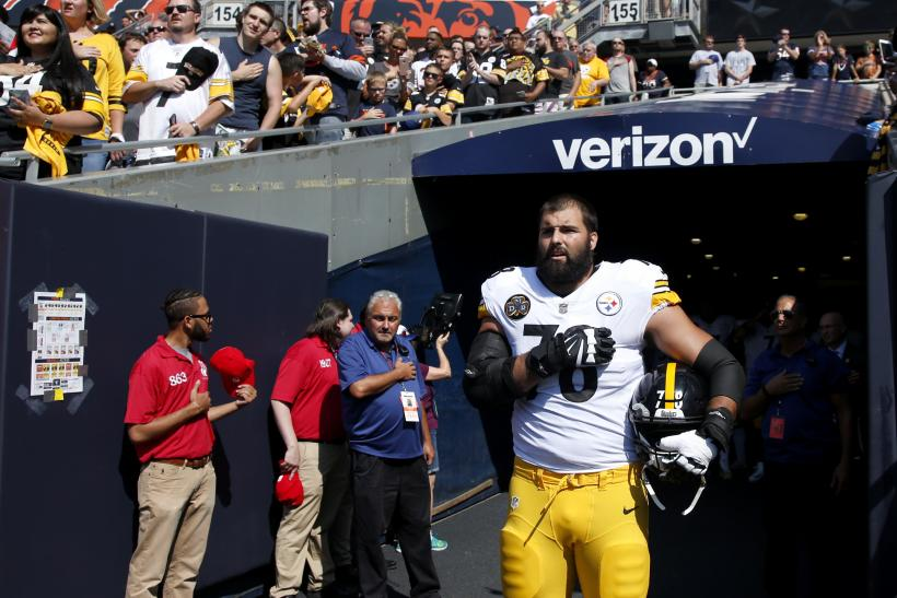 After Standing For Anthem, Steelers' Lineman's Jersey Sales Soar