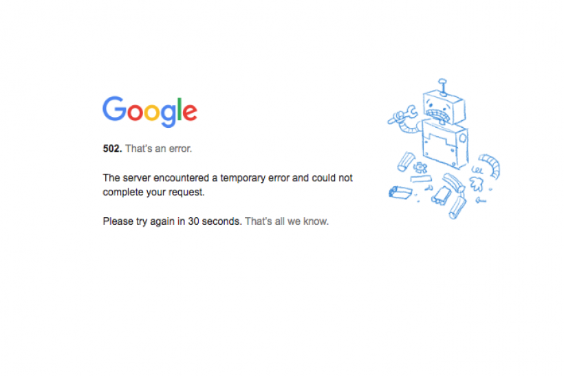 Yup, Google Docs went down, but it's coming back