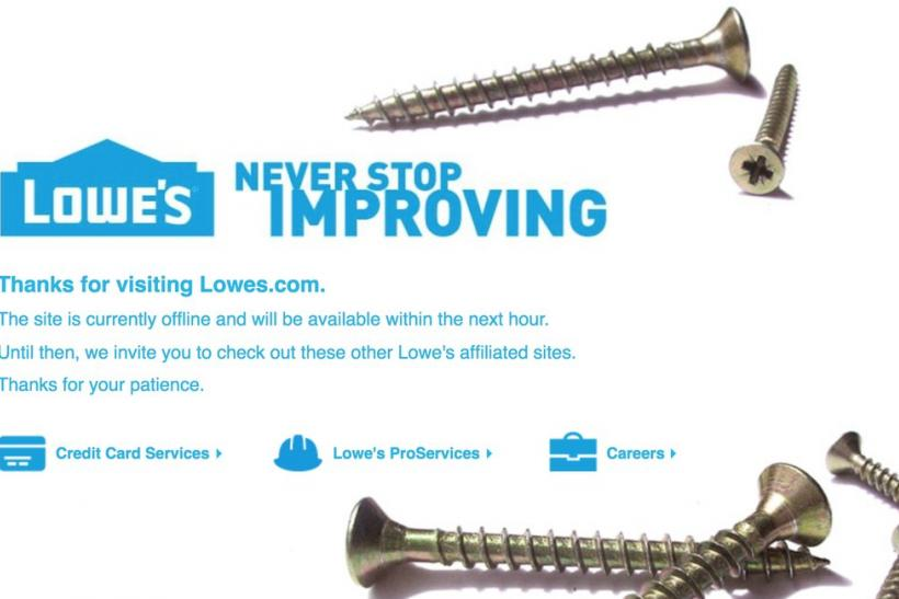 lowes site down