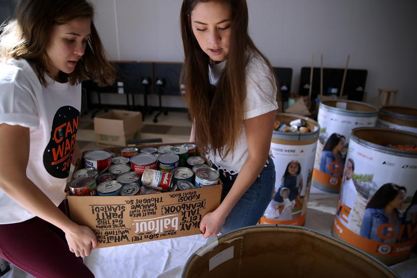Massive Food Drive Brings In Record Amount Of Donations At San Mateo High School