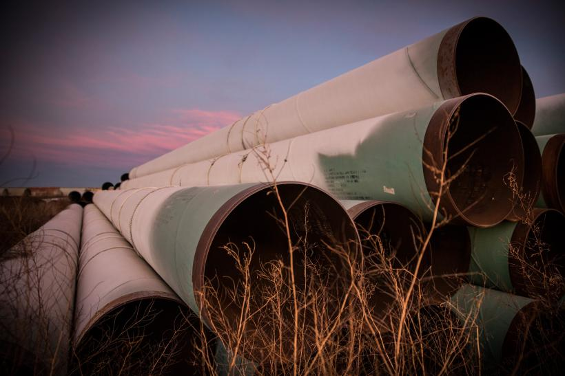 Pipes for Keystone XL pipeline