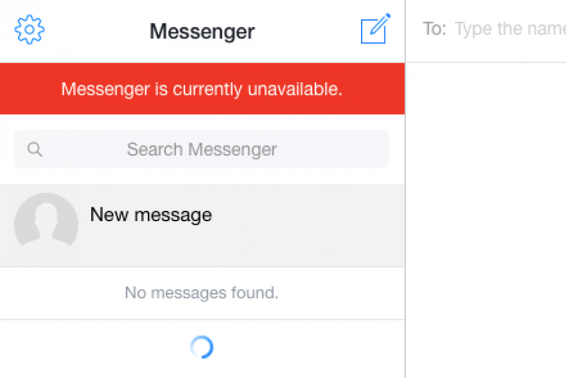 Is Facebook Down, FB messenger down for many users