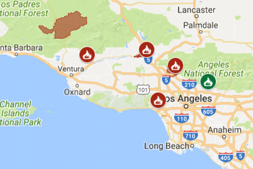 Skirball Fire Update >> Latest California Wildfire Map Update Shows Where Fires Are Still Burning
