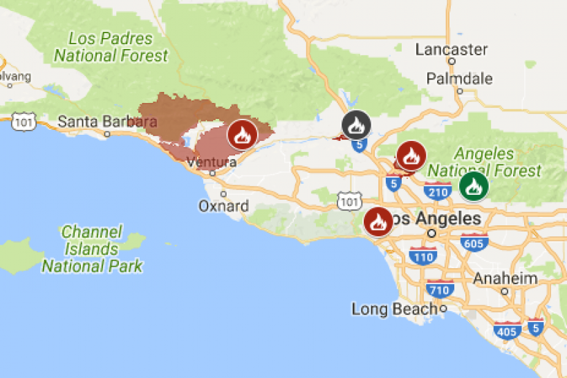 Latest California Wildfire Map Shows Where Fires Are Still Burning on